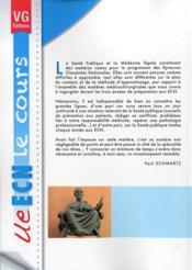 Ue Ecn Le Cours Sante Publique - 4ème de couverture - Format classique