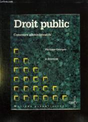 Droit Public Concours Administratifs - Couverture - Format classique
