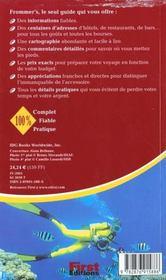 Guide Frommer'S ; Israel - 4ème de couverture - Format classique