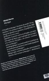 Musique - 4ème de couverture - Format classique