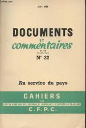 Cahiers Du C.F.P.C N°22 : Documents Et Comentaires N° 114 - Juin 58 - Couverture - Format classique