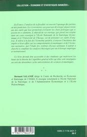 L'Approche Economique De La Fiscalite - 4ème de couverture - Format classique