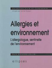 Allergies Et Environnement L'Allergologue Sentinelle De L'Environnement - Intérieur - Format classique