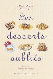 Les desserts oubliés - Couverture - Format classique