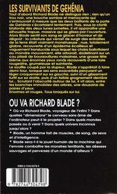 Blade t.131 ; les survivants de Gehénia - 4ème de couverture - Format classique