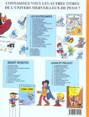 Les Schtroumpfs T.23 ; Les Schtroumpfs Joueurs - 4ème de couverture - Format classique