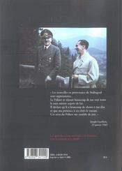 Joseph Goebbels ; journal, 1943-1945 - 4ème de couverture - Format classique