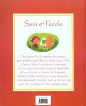 Sam et l ecole - 4ème de couverture - Format classique