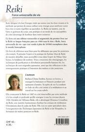 Reiki : force universelle de vie - 4ème de couverture - Format classique