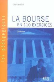 La bourse en 110 exercices (2e edition) (2e édition) - Intérieur - Format classique