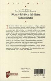 1968 ; entre libération et libéralisation ; la grande bifurcation - 4ème de couverture - Format classique