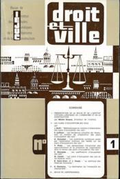 DROIT ET VILLE, Revue de l'Institut des Études Juridiques de l'Urbanisme et de la Construction; Urbanisme, Construction, Aménagement du Territoire, du n° 1 (1976) au n° 55 (2003). Tables des n° 1 à 12 (1981); n° 13 à 30 (1990) et n° 31 à 44 (1997) - Couverture - Format classique