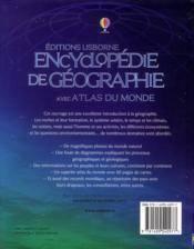 Encyclopédie de géographie avec atlas du monde - 4ème de couverture - Format classique