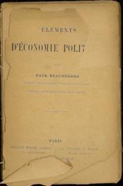 Elements D'Economie Politique - Couverture - Format classique