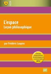 L'espace ; leçon philosophique - Couverture - Format classique