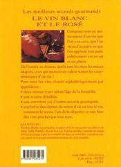 Les Meilleurs Accords Gourmands: Le Vin Blanc Et Le Vin Rose - 4ème de couverture - Format classique