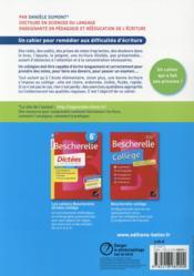 Les cahiers d'écriture ; remédiation ; cahier de l'élève (édition 2015) - 4ème de couverture - Format classique