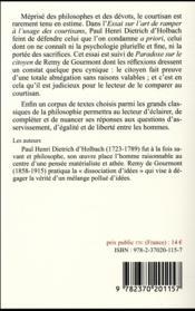 Essai sur l'art de ramper à l'usage des courtisans ; paradoxe sur le citoyen et autres textes - 4ème de couverture - Format classique