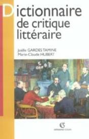 Dictionnaire de critique litteraire - Couverture - Format classique