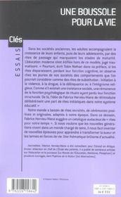 Une boussole pour la vie - les nouveaux rites de passage - 4ème de couverture - Format classique