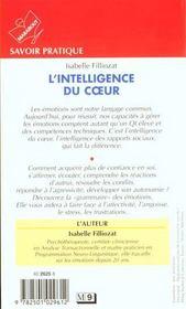 L'intelligence du coeur - 4ème de couverture - Format classique