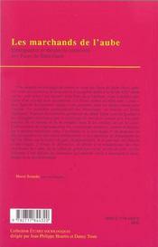 Les Marchands De L'Aube ; Elements Pour Une Theorie Du Commerce - 4ème de couverture - Format classique