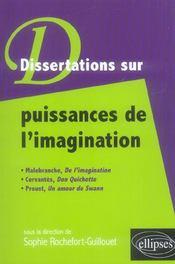 Dissertations Sur La Puissance De L'Imagination Malebranche Cervantes Proust - Intérieur - Format classique