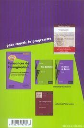 Dissertations Sur La Puissance De L'Imagination Malebranche Cervantes Proust - 4ème de couverture - Format classique