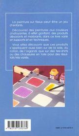 Peinture sur tissus - 4ème de couverture - Format classique