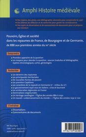 Pouvoirs, eglise et société dans les royaumes de France, de Bourgogne et de Germanie de 888 aux premières années du XIIème siècle - 4ème de couverture - Format classique