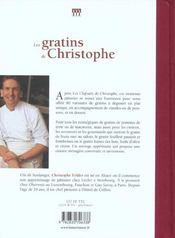 Gratins De Christophe (Les) - 4ème de couverture - Format classique