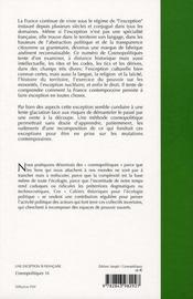 COSMOPOLITIQUES T.16 ; une exception si française - 4ème de couverture - Format classique