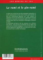 Le rami et le gin-rami ou gin rummy - 4ème de couverture - Format classique