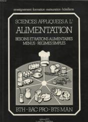 Science appliquee a l'alimentation - Couverture - Format classique