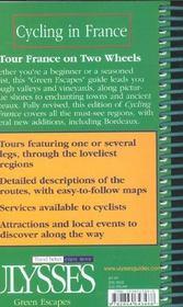 Cycling in France - 4ème de couverture - Format classique