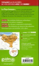 Geoguide ; Pays Basque (Biarritz, San Sebastian, Bilbao) - 4ème de couverture - Format classique