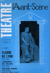 L'AVANT-SCENE - THEATRE N° 255 - CLAUDE DE LYON de ALBERT HUSSON - Couverture - Format classique