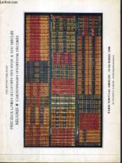 CATALOGUE DE VENTE AUX ENCHERES - NOUVEAU DROUOT - PRECIEUX LIVRES ILLUSTRES DES XVIIIe & XIXe SIECLES - RELIURES - CARTONNAGES D'EDITIONS DECORES - SALLE 3 - 19 OCTOBRE 1984. - Couverture - Format classique