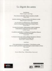 REVUE GENESES N.96 ; le dégoût des autres - 4ème de couverture - Format classique
