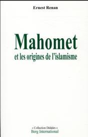 Mahomet et les origines de l'islamisme - Couverture - Format classique