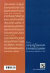 Introduction à l'économie (2e édition) - 4ème de couverture - Format classique