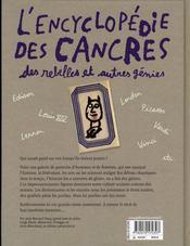 L'encyclopédie des cancres, des rebelles et autres génies - 4ème de couverture - Format classique