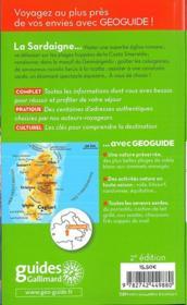 GEOguide ; Sardaigne (édition 2018) - 4ème de couverture - Format classique