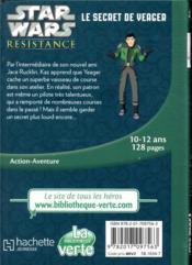Star Wars - Résistance T.4 ; le secret de Yeager - 4ème de couverture - Format classique
