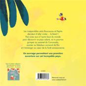 Le tour du monde ; Roucoucou et Pepita découvrent... le Brésil - 4ème de couverture - Format classique