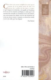 Le droit transitoire ; conflits des lois dans le temps - 4ème de couverture - Format classique