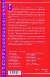 Transdisciplinarite ; Fondement De La Pensee Manageriale Anglo-Saxonne - 4ème de couverture - Format classique
