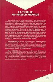 La Tutelle Au Majeur Protege ; La Loi De 68 Et Sa Mise En Oeuvre - 4ème de couverture - Format classique