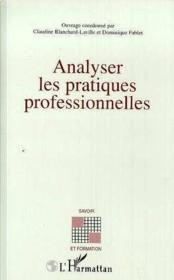 Analyser Les Pratiques Professionnelles - Couverture - Format classique