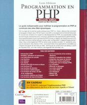 Campuspress Ref Programmation Php 2e Edition - 4ème de couverture - Format classique